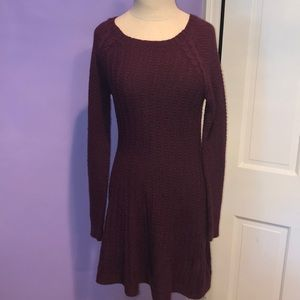 Hollister burgundy sweater dress